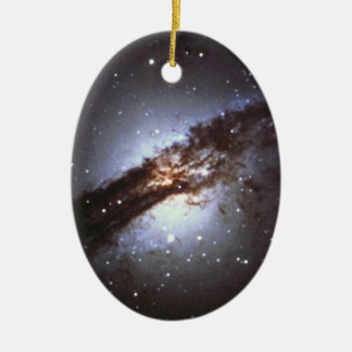 NGC 5128 Centaurus une NASA de galaxie Ornement Ovale En Céramique