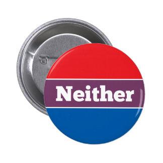 Ni l'un ni l'autre candidat politique badge