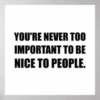 Nice personnes jamais trop importantes poster