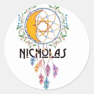 Nicholas Dreamcatcher Sticker Rond