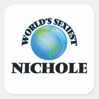 Nichole le plus sexy du monde sticker carré