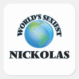Nickolas le plus sexy du monde autocollants carrés