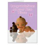 Nièce de bébé de félicitations tante et d'oncle cartes