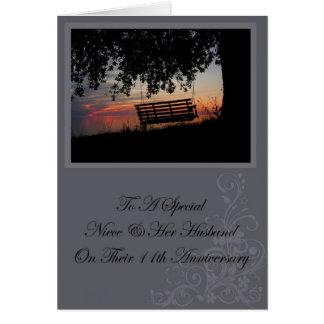 Nièce et sa 11ème carte d'anniversaire de mari
