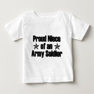 Nièce fière d'armée t-shirt pour bébé