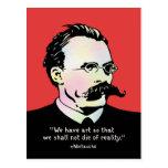 Nietzsche - réalité de l'art v. cartes postales