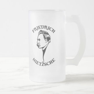Nietzsche - SV Frosted Glass Beer Mug