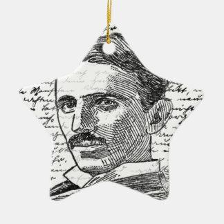 Nikola Tesla Ornement Étoile En Céramique