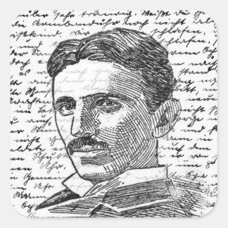 Nikola Tesla Sticker Carré