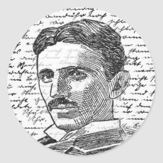 Nikola Tesla Sticker Rond