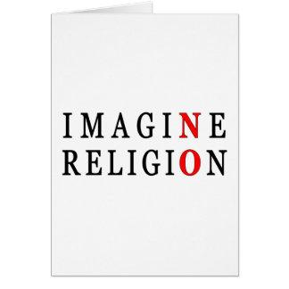 N'imaginez aucune religion carte de vœux