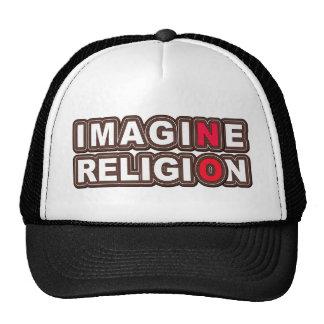 N'imaginez aucune religion casquettes de camionneur
