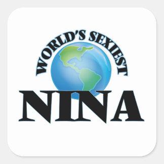 Nina la plus sexy du monde sticker carré