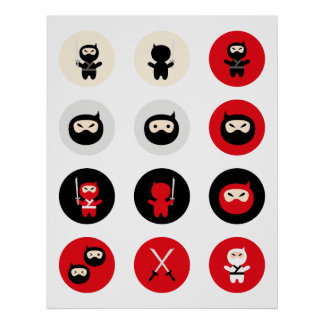 Ninja Cutie Posters