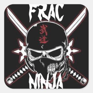 Ninja de Frac Sticker Carré
