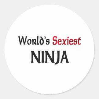 Ninja le plus sexy du monde autocollants ronds