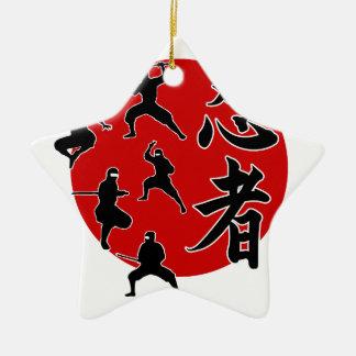 Ninja Ornement Étoile En Céramique