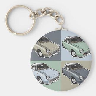 Nissan Figaro dans quatre couleurs Porte-clé Rond