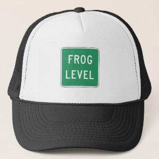 Niveau de grenouille, marqueur de route, la casquette