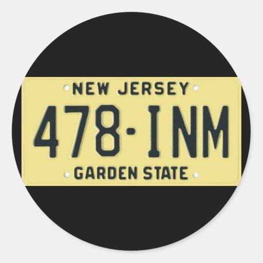 NJ77 AUTOCOLLANTS RONDS