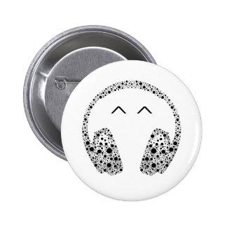 NO1 de bouton de musique de casque du DJ Badge