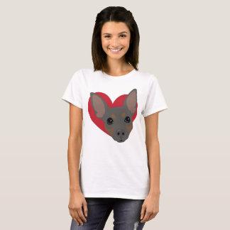 NO3 bleu de T-shirt de Pin de minute de coeur