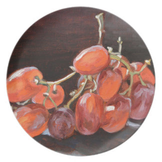No. 2 de raisins rouges assiettes en mélamine