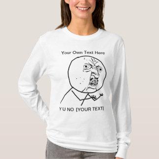 NO- 2 de Y U a dégrossi long T-shirt de douille de