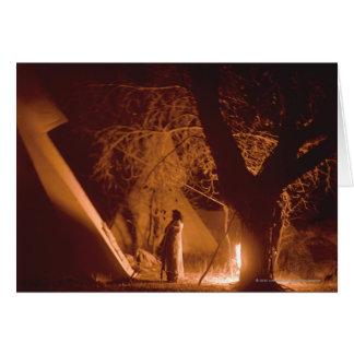 No. 2 du feu de camp carte de vœux