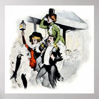 No. 4 de vie nocturne de Paris Poster