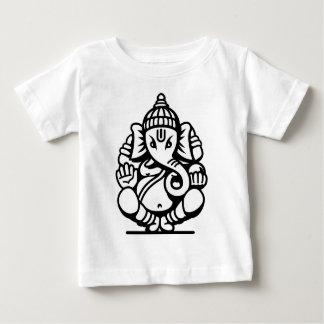 No. 4 (noir) d'éléphant de Ganesha T-shirt Pour Bébé