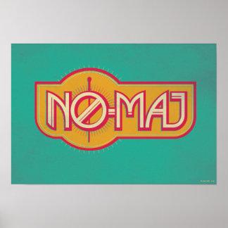 NO--Commandant rouge et jaune Badge Posters