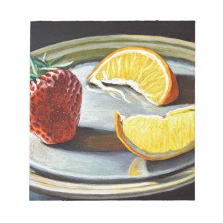 No. juteux 2 d'orange de fraise d'agrume bloc-note