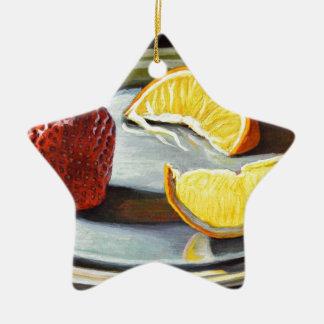 No. juteux 2 d'orange de fraise d'agrume ornement étoile en céramique