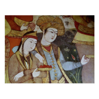 Nobles à la cour de Shah Abbas I Carte Postale