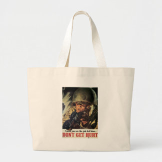 N'obtenez pas la guerre mondiale blessée 2 sac en toile jumbo
