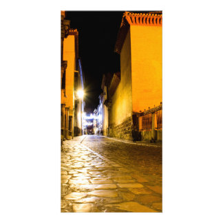 Nocturnal empty street photocarte