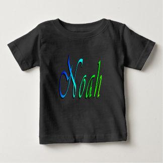 Noé, nom, logo, le T-shirt noir du bébé