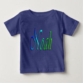 Noé, nom, logo, T-shirt du bleu de bébé