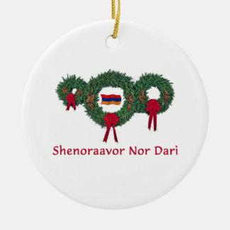 Noël 2 de l'Arménie Ornement Rond En Céramique