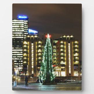 Noël à Oslo, Norvège Plaque Photo