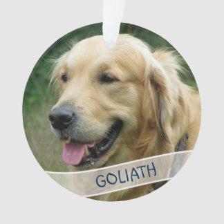 Noël acrylique fait sur commande de photo de chien