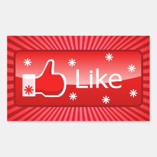 Noël aiment le bouton sticker rectangulaire