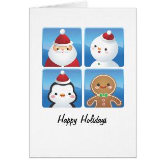 Noël ajuste des cartes