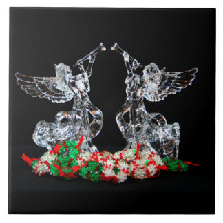 Noël angélique grand carreau carré