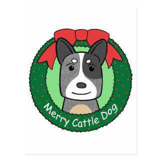 Noël australien de chien de bétail carte postale