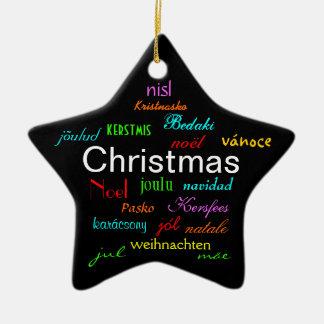 Noël autour du monde dans le noir II Ornement De Noël