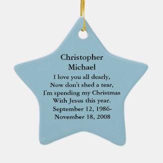 Noël avec la photo d'ornement de Jésus Ornement Étoile En Céramique
