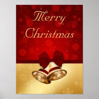 Noël Bells d'or - copie d'affiche Posters