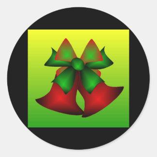 Noël Bells VI Adhésifs Ronds